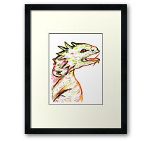 Little Green Dragon Framed Print