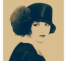 Nevermind vintage like art on brown background Photographic Print