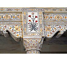 Marble Work at Agra Red Fort © Photographic Print