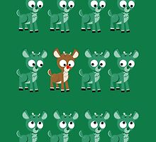 LOOK! It's Rudolph! v2(Green) by AnishaCreations