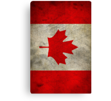 Grunge Canada Flag Canvas Print