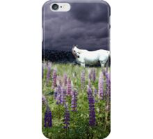 White Horse in a Lupine Dream iPhone Case/Skin