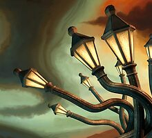 Drunk Streetlamps by Remus Brailoiu