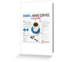 How to make coffee using project management? Square poster Greeting Card