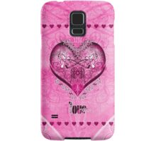 LOVE HEART - Pink Samsung Galaxy Case/Skin