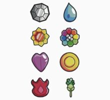 Pokemon Kanto Medal Color by KumaGenis