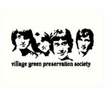British Invasion - Village Green Preservation Society Art Print
