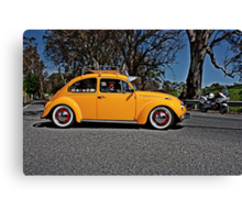 Yellow Volkswagen Beetle on Angas Creek Road Canvas Print