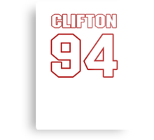 NFL Player Clifton Geathers ninetyfour 94 Metal Print