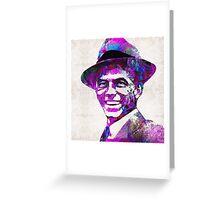 Frank Sinatra Art - Pink Sinatra - By Sharon Cummings Greeting Card