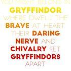 Gryffindor Gradient Version by Connie Yu