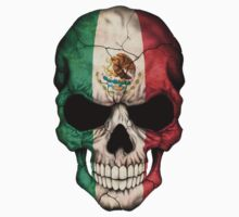 Mexican Flag Skull by Jeff Bartels