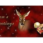 Season's Greetings Deer by jkartlife