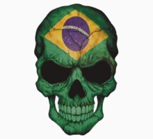 Brazilian Flag Skull by Jeff Bartels