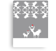 Cervidae Deer Pattern with Heart Canvas Print