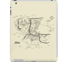Map of Middle Earth, Lord of the Rings, Tolkien iPad Case/Skin