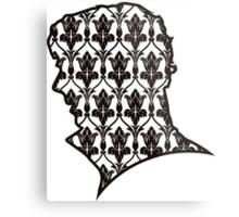Sherlock - 221b Wallpaper Metal Print
