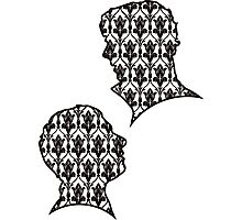 Sherlock Portraits - Wallpaper design Photographic Print