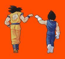 """""""Bros"""" Goku and Vegeta Fist Bump Kids Clothes"""