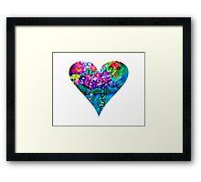 Floral Heart Designer Art Gifts - White Framed Print