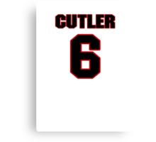 NFL Player Jay Cutler six 6 Canvas Print