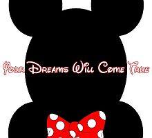Mickey and Minnie Minimalist Design by TJ Ruesch