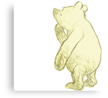 Silly Old Bear Textless Metal Print