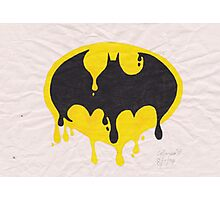 Dripping Batman Symbol Photographic Print