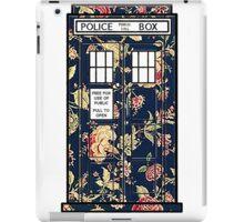 Floral TARDIS iPad Case/Skin