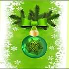 Green Christmas ornament  (1379  Views) by aldona