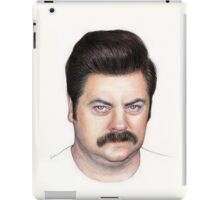 Ron Swanson Portrait Nick Offerman Art iPad Case/Skin