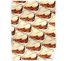 Lunch Room Sandwich Pattern Poster