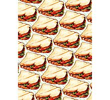 Lunch Room Sandwich Pattern Photographic Print
