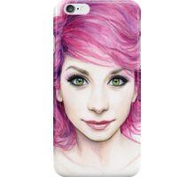 Beautiful Girl with Magenta Hair iPhone Case/Skin