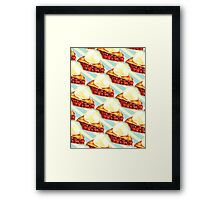 Cherry Pie Pattern Framed Print