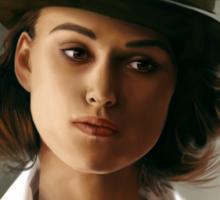 Keira Knightley fanart digital painting  Sticker