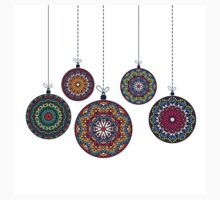 Christmas Mandala Bolls. Merry Christmas and Happy New Year Kids Clothes