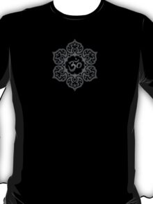 Dark Lotus Flower Yoga Om T-Shirt