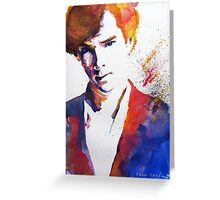 Sherlock - Splash of Colour Greeting Card