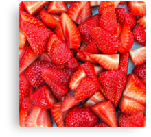 Strawberry Texture Canvas Print