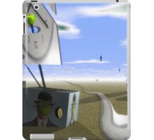 Magritte sailing phantom clocks on desert  iPad Case/Skin
