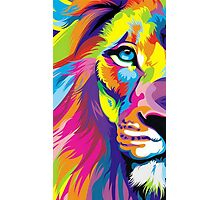 Colorful Lion Photographic Print