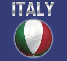 Italy - Italian Flag - Football or Soccer Ball & Text 2 by graphix