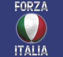 Forza Italia - Italian Flag - Football or Soccer Ball & Text 2 by graphix