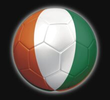 Ivory Coast - Cote d'Ivoire - Ivorian Flag - Football or Soccer 2 by graphix
