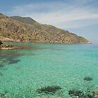Ombrosgialos Cove - Crete by Sheila Laurens