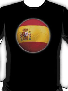 Spain - Spanish Flag - Football or Soccer 2 T-Shirt