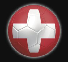 Switzerland - Swiss Flag - Football or Soccer 2 by graphix