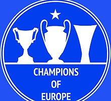 Champions of Europe by Calum Margetts Illustration