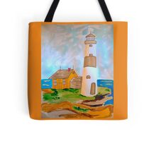 The Lighthouse by the Sea Tote Bag